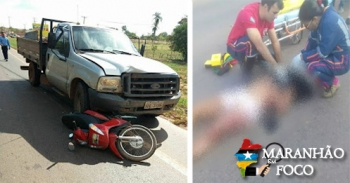 Acidente deixa um morto próximo ao Parque de Exposições, em Açailândia