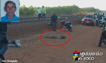 Idoso morre após ser atropelado por trem no Piquiá, em Açailândia
